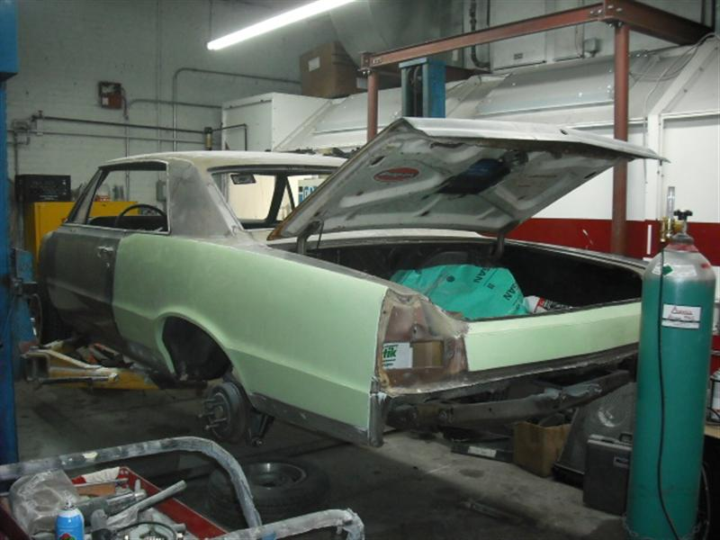 1965 GTO in Body Shop