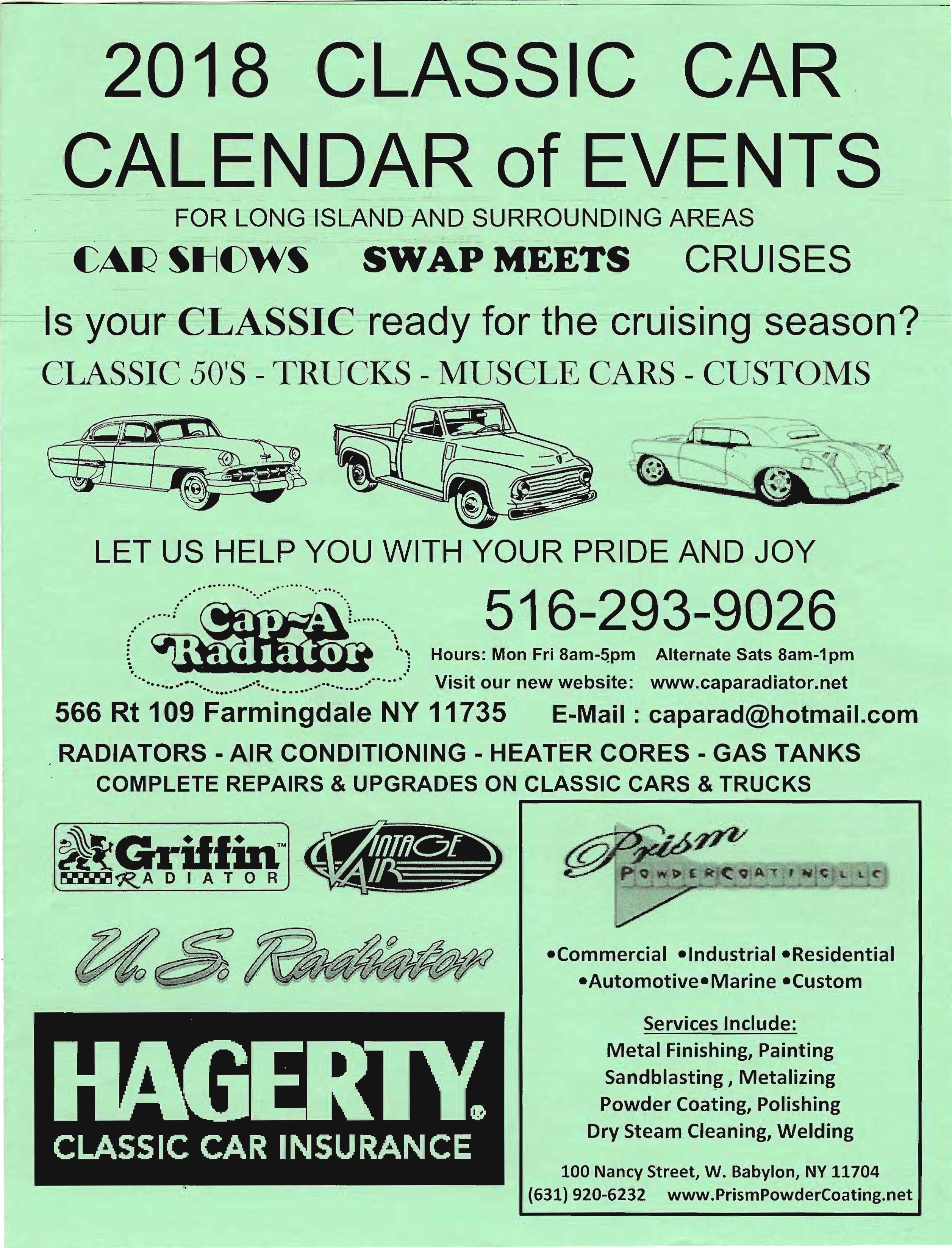 2018 Classic Car Calendar of Events First Edition through July Page 1