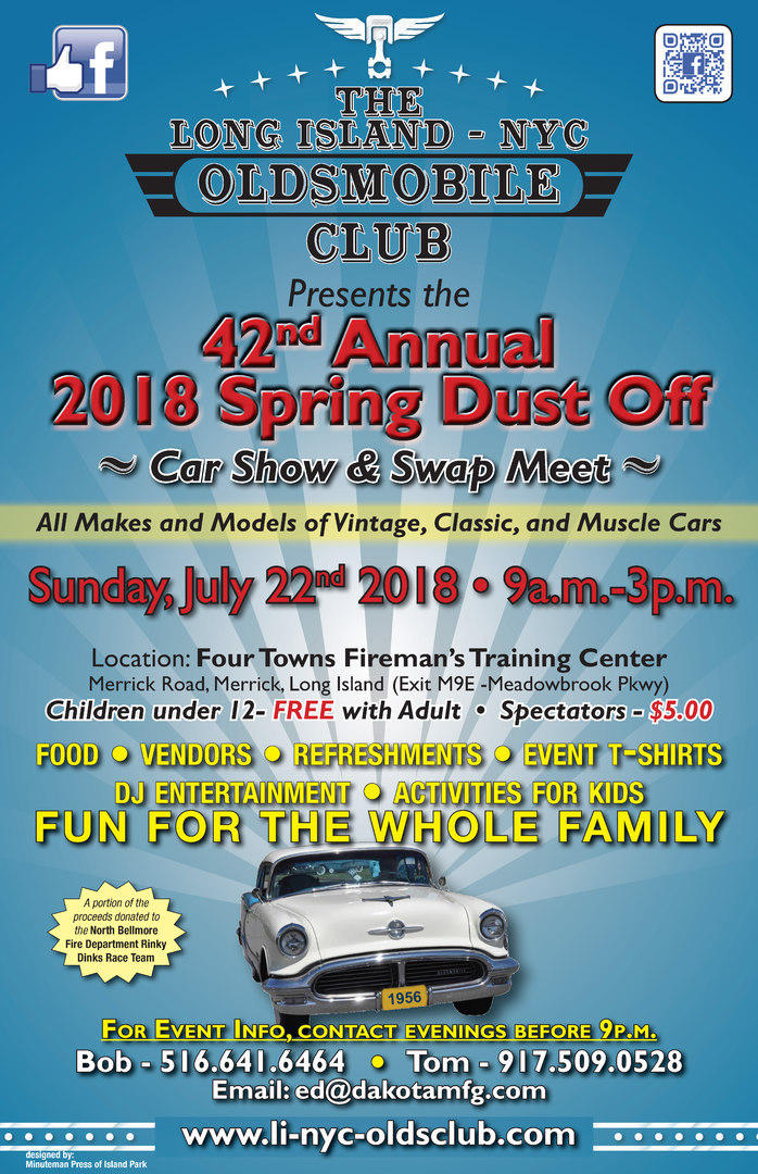 LI NYC 2018 Spring Dust Off Car Show and Swap Meet Flyer