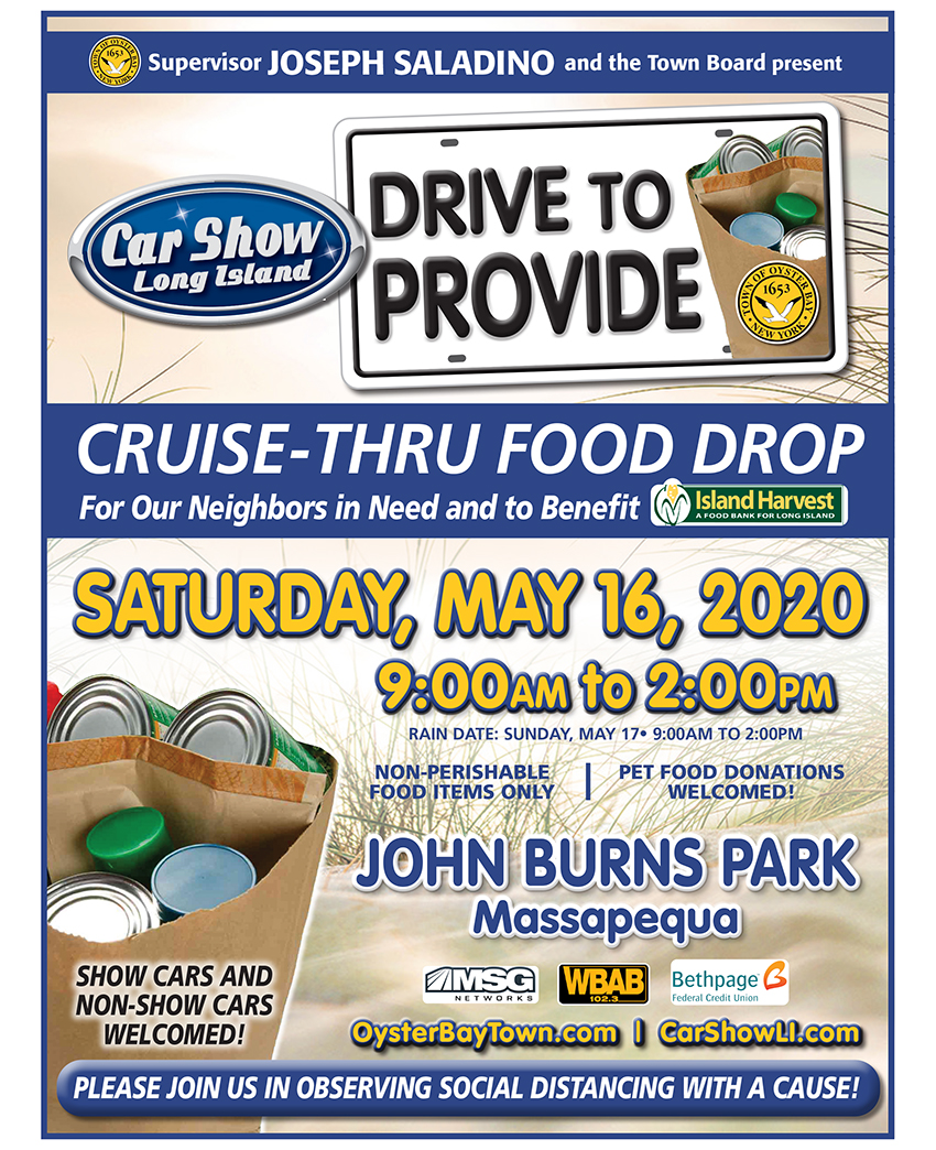 Town of Oyster Bay Food Drive - May, 16, 2020