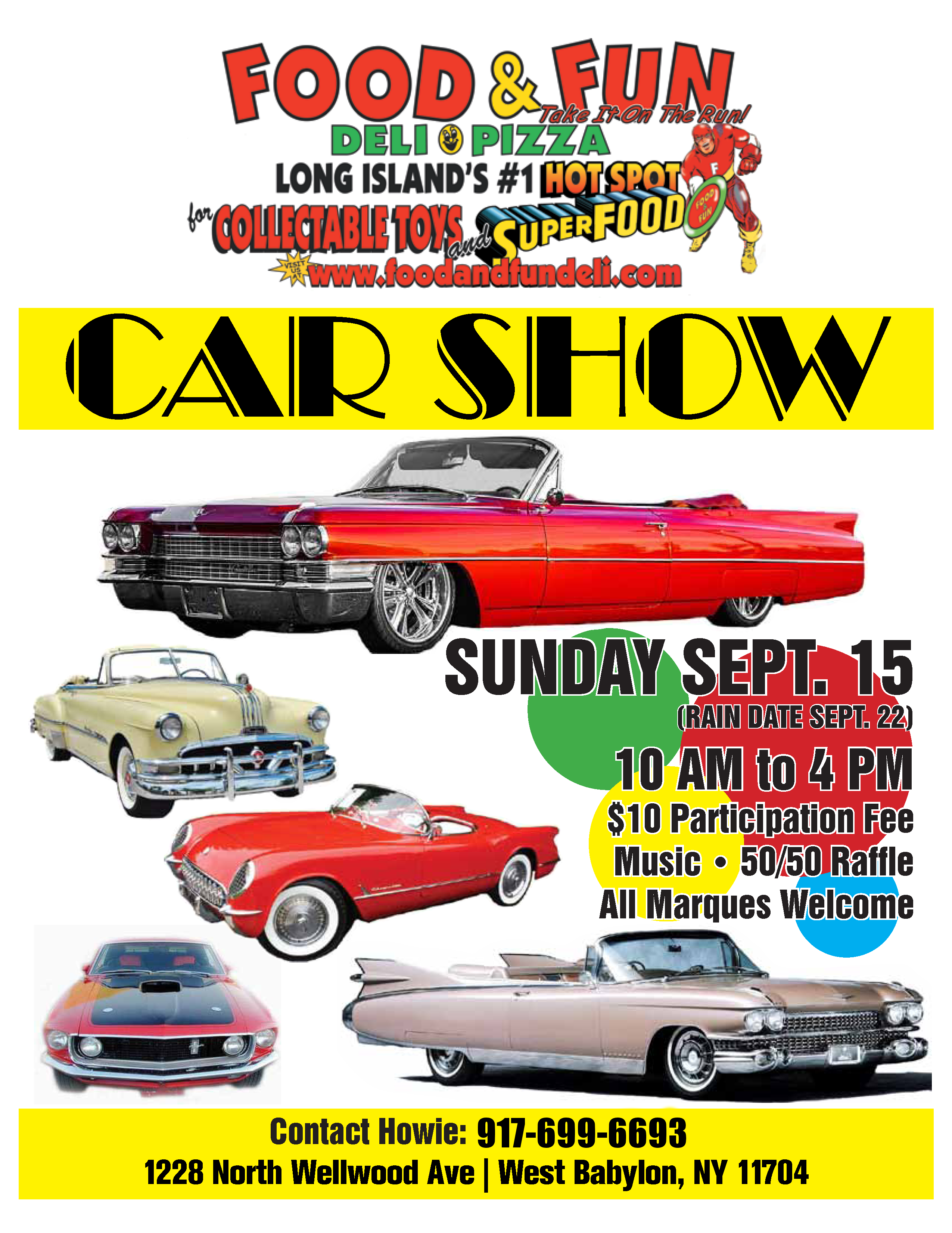 2019 Cadillac Club of LI Car Show Flyer 9 15 19