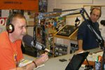 Chris Switzer and Ray Guarino in the Studio